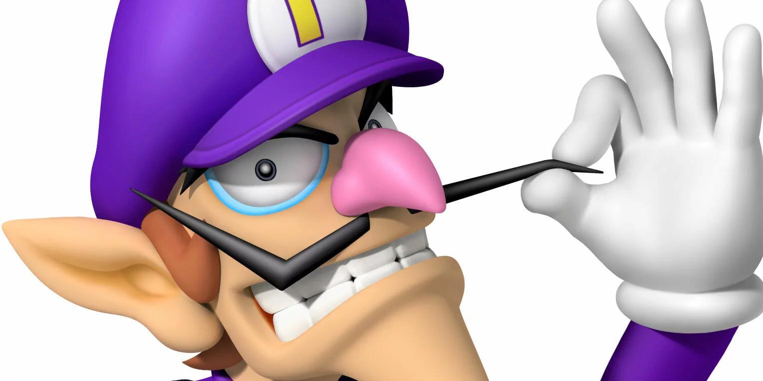 Waluigi character. The purple sheep of