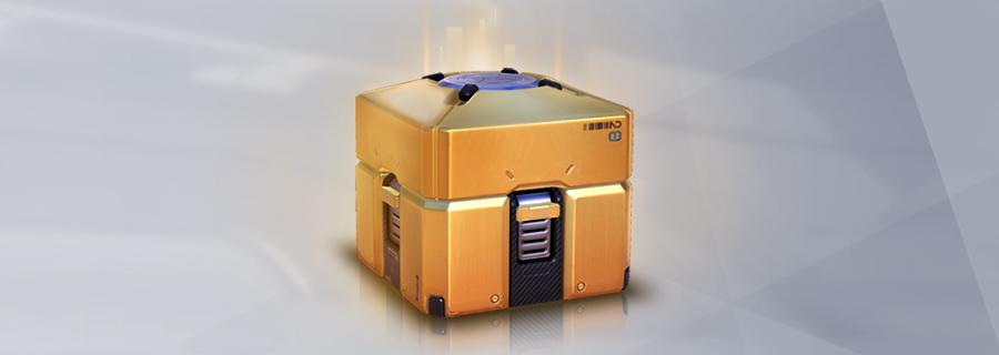 A golden loot box.